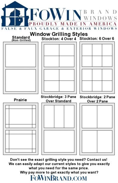Fowin Brand Windows Faux Fake Simulated Imitation